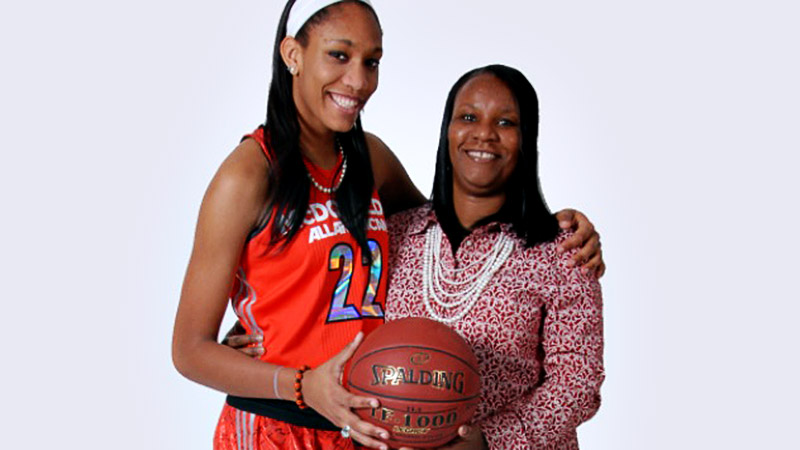 A self-described family girl, A'ja Wilson got some big assists from her mom throughout the recruiting process.