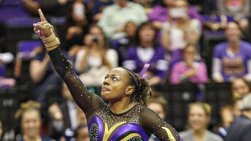 LSU's Lloimincia Hall looks to become the first gymnast since 2005 to score a perfect 10 on beam at the NCAA championships.