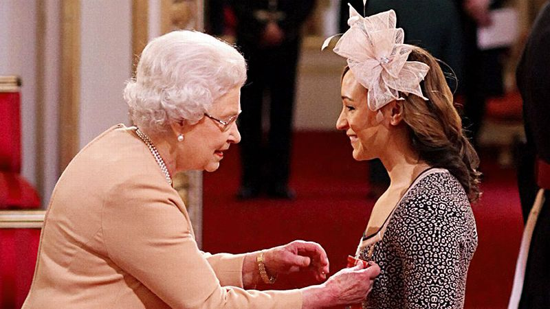 Queen Elizabeth honored 2012 heptathlon gold medalist Jessica Ennis at a ceremony last year.