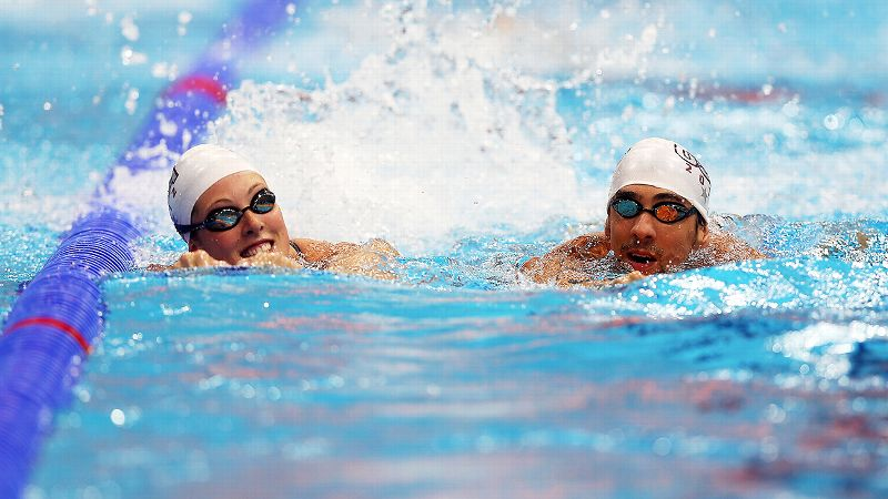 Allison Schmitt and Michael Phelps have trained together on and off since 2006.