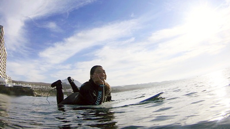 LPGA Tour player Tiffany Joh took up surfing about two years ago and fell in love with it.