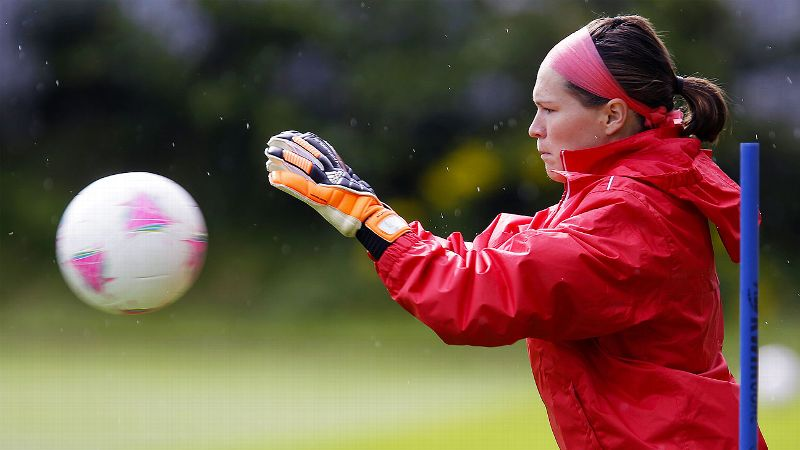 Erin McLeod is the goalie for the newly-formed NWSL team the Houston Dash.