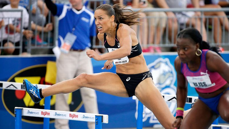 The effervescent hurdler won three NCAA titles and was named an All-American 11 times.