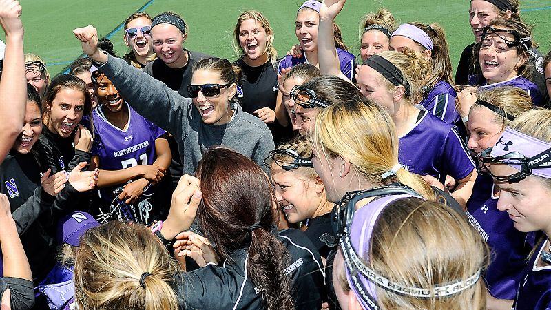 Kelly Amonte Hiller has led Northwestern to seven national championships.