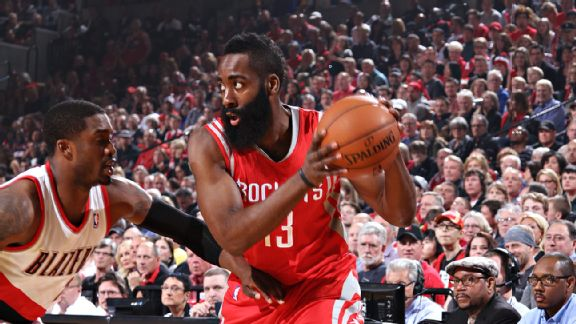 James Harden's defensive struggles have been detrimental to Houston's postseason hopes.