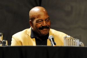 Jim Brown ripped the NCAA Saturday at the Pro Football Hall of Fame Fan Fest.