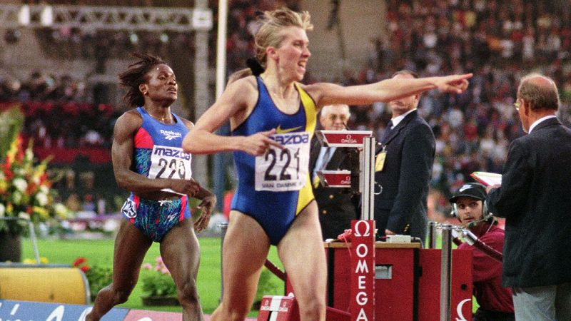 Russian track star Svetlana Masterkova has held the world record in the mile with a time of 4:12.56 since 1996.
