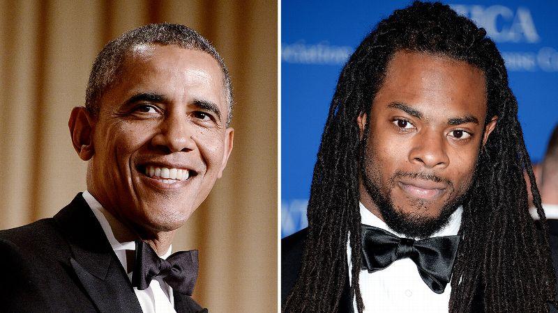 President Barack Obama and Richard Sherman