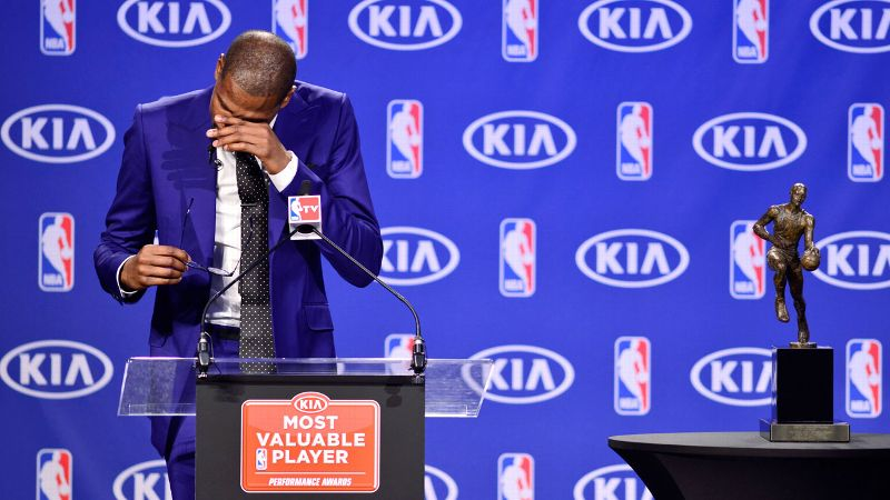 How can you not root for Kevin Durant after his emotional tribute to his MVP?