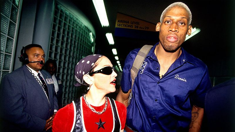For two glorious months in 1994, Rodman dated equally eccentric Madonna, and it seemed that all was right with the world. Sadly, the relationship would not last, but Rodman provided many private details of their brief affair in his autobiography.
