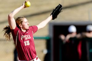 Florida State's Lacey Waldrop shut out South Florida for 11 innings Saturday.