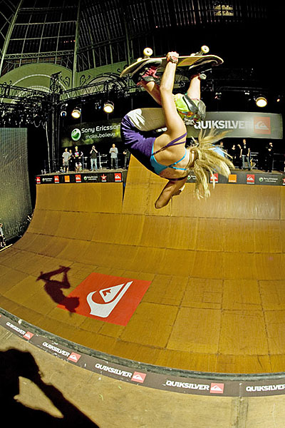 Lyn-z Pastrana was the first woman to land a McTwist on a skateboard, at the Tony Hawk Show at Paris's Grand Palais, in 2009.