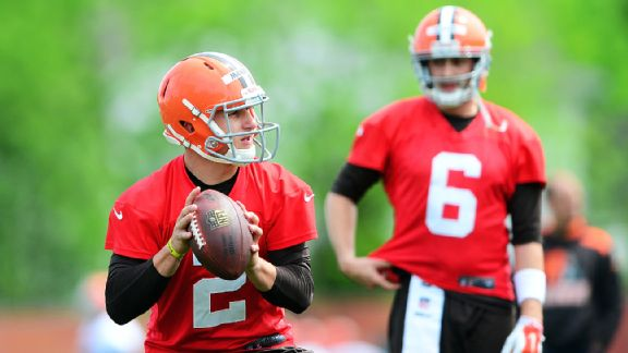 It would behoove the Browns to keep Johnny Manziel (No. 2) on the bench this season.