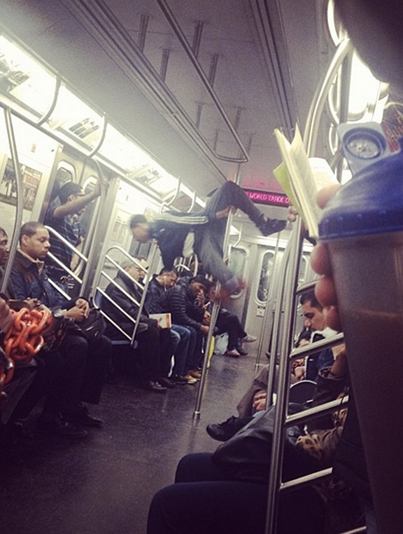 Of the countless forms of entertainment in New York, don't forget to people watch on the subway.