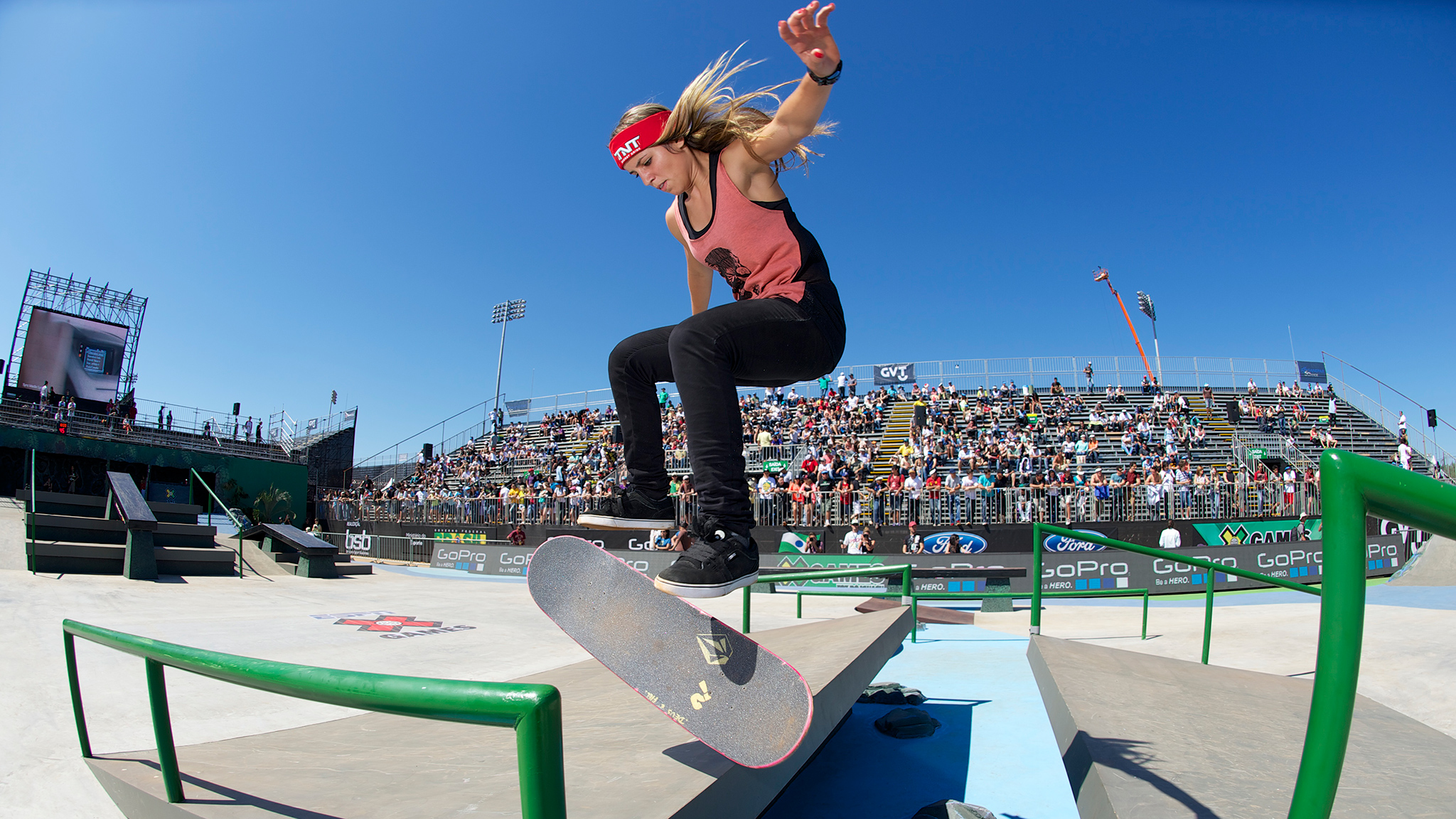 Leticia Bufoni competes in Women's Skateboard Street at X Games Foz do Iguau in Brazil where she won the first of her three X Games gold medals in 2013. Bufoni signed with Nike SB on Friday.