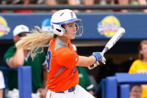 Taylor Schwarz gave Florida some breathing room against Baylor with a three-run double in the fifth inning.