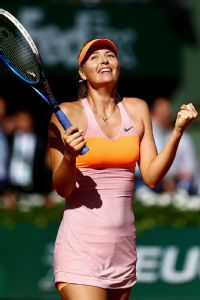 With one trophy from each of the Grand Slams, Maria Sharapova is hoping to clutch her first duplicate on Saturday.