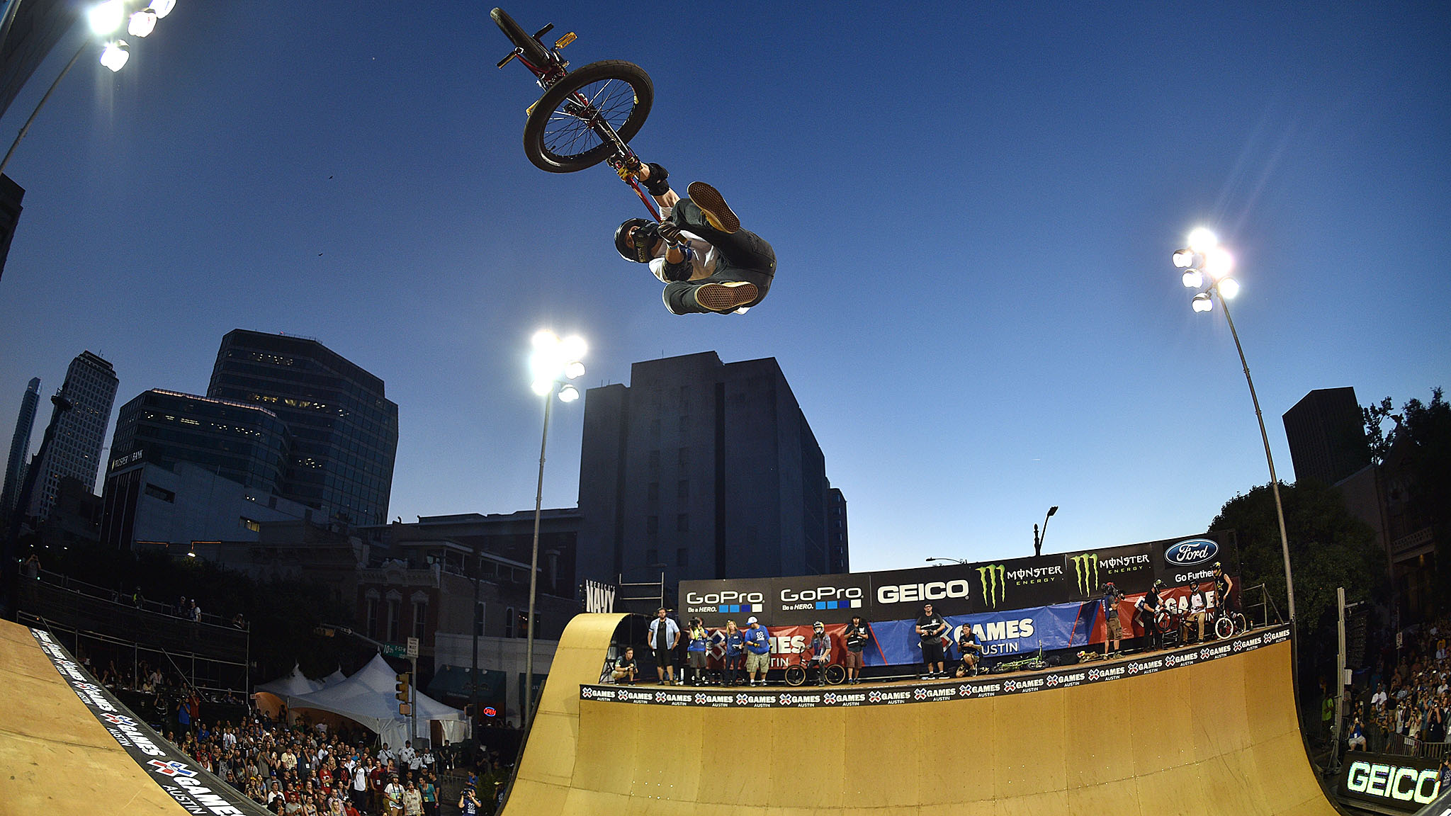 At age 42, Jamie Bestwick was the second-oldest rider in the BMX Vert field behind 47-year-old Dennis McCoy.