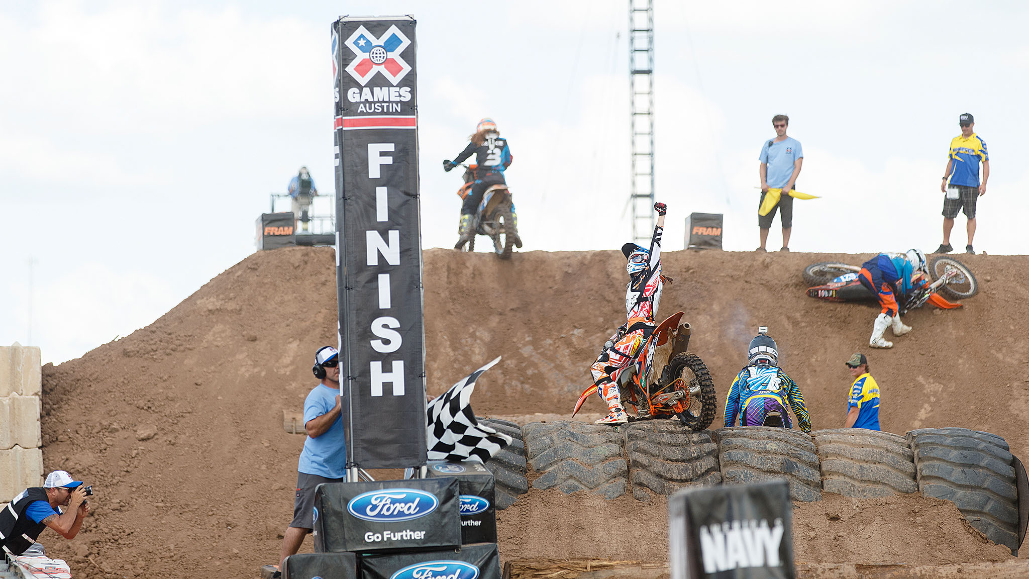 Kacy Martinez, 23, is just the third woman to top the podium since her sport's debut at X Games Los Angeles 2011, where she won bronze. Maria Forsberg and Laia Sanz have previously dominated the women's field. Forsberg announced her retirement from competition last October and is expecting her first child this fall; Sanz opted to compete in the Enduro World Championships in Finland this week.