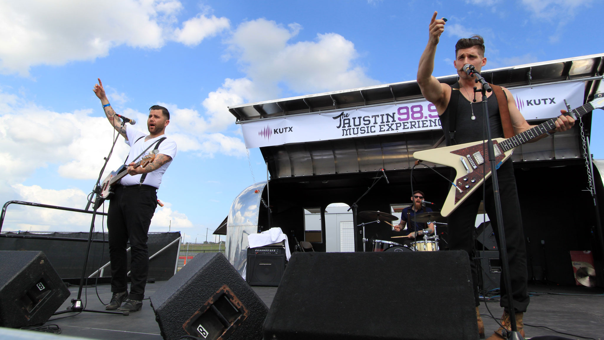 Austin-based band Leopold and His Fiction performs live in front of the X Games crowd.