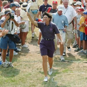 Juli Inkster felt a connection to the Kansas crowd in 2002, and from the response, the feeling was mutual.