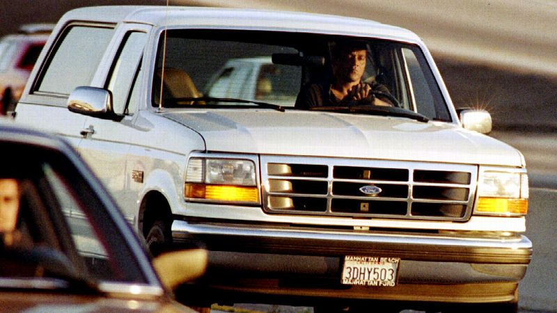 On a big sports day that included the NBA Finals and the Rangers' Stanley Cup celebration, viewers tuned in to watch O.J. Simpson and Al Cowlings lead police on a low-speed chase around Los Angeles.