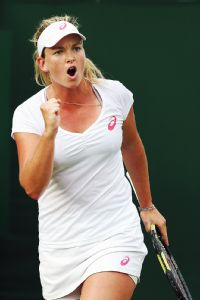Fresh off winning her first career title, Coco Vandeweghe won her first career match at Wimbledon.