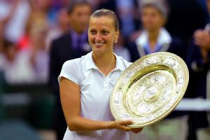 Petra Kvitova won her second Wimbledon title with a dominating performance that took just 55 minutes.