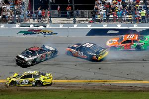 Danica Patrick, in the No. 10 car, managed to escape both major wrecks at Daytona International Speedway on Sunday.
