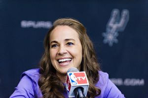 When it comes to things of the mind, things like coaching, game-planning, coming up with offensive and defensive schemes, there's no reason why a woman couldn't be in the mix and shouldn't be in the mix, Becky Hammon said Tuesday.