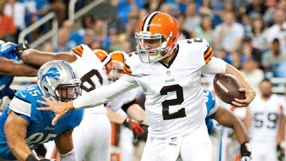 Johnny Manziel led the Browns in rushing during the preseason opener against the Lions.