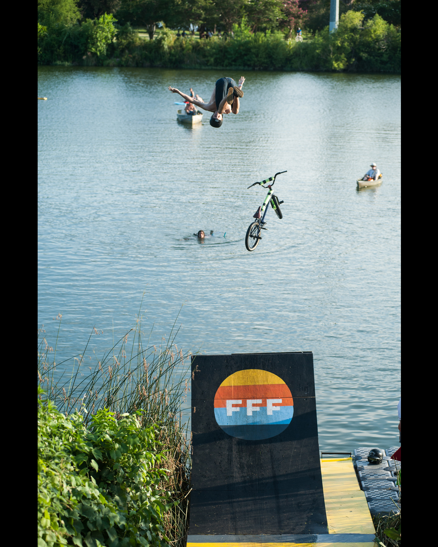 Flip dismount