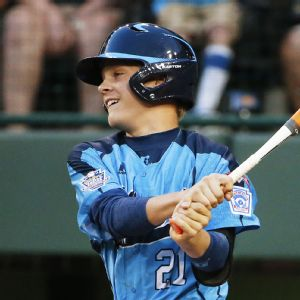 Austin Kryszczuk got Nevada off and running with an RBI triple off Mo'ne Davis in the first inning of Wednesday's Little League World Series game.