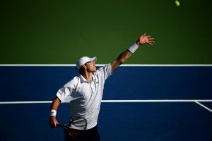 John Isner reached the third round of the US Open for the sixth straight year.