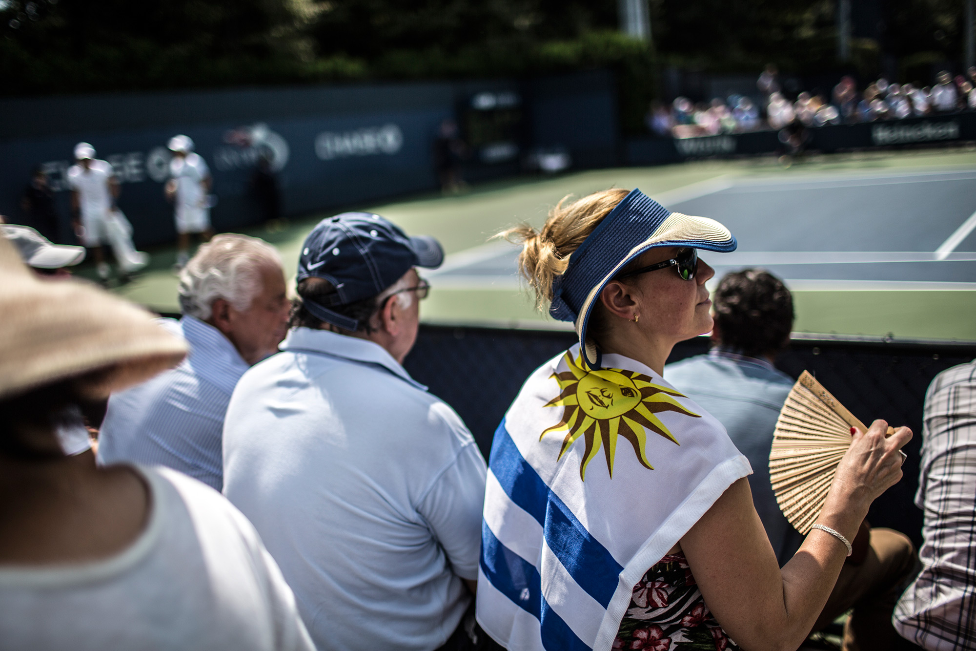 The all-South American clash drew a small but passionate crowd. While outnumbered both on and off the court, the Uruguayan fans made sure their presence was felt with flags and cheers.