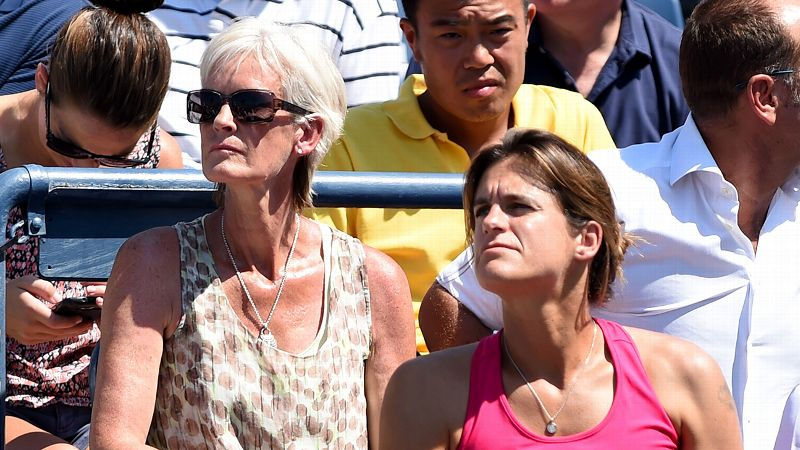 Judy Murray and Amelie Mauresmo