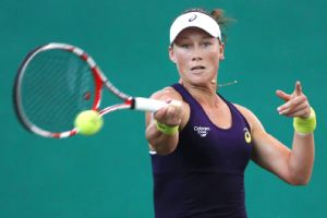 Top-seeded Samantha Stosur was among those to lose in the first round at the Guangzhou Open as No. 2 Alize Cornet was the only seeded player among the top eight to advance.