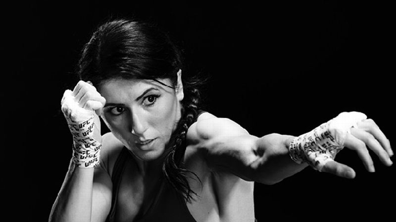UFC title contender Randa Markos was born in Iraq and imprisoned in Turkey before she landed in Canada, where she has become a professional cage fighter.