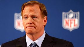 NFL commissioner Roger Goodell was moved to tears during his visit to the headquarters of the National Domestic Violence Hotline on Saturday night, said Hotline CEO Katie Ray-Jones.