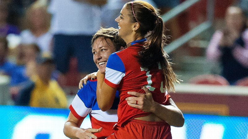 Abby Wambach, Alex Morgan