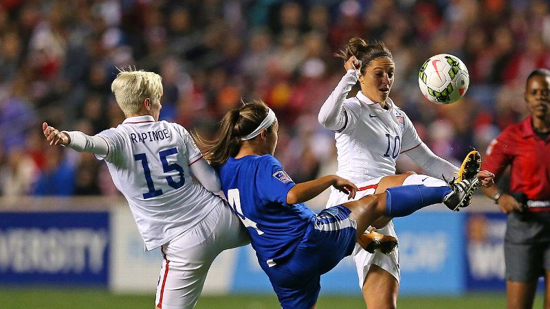 Megan Rapinoe, Carli Lloyd and the U.S. women play Mexico in the CONCACAF semfinals at 7:30 p.m. ET Friday.