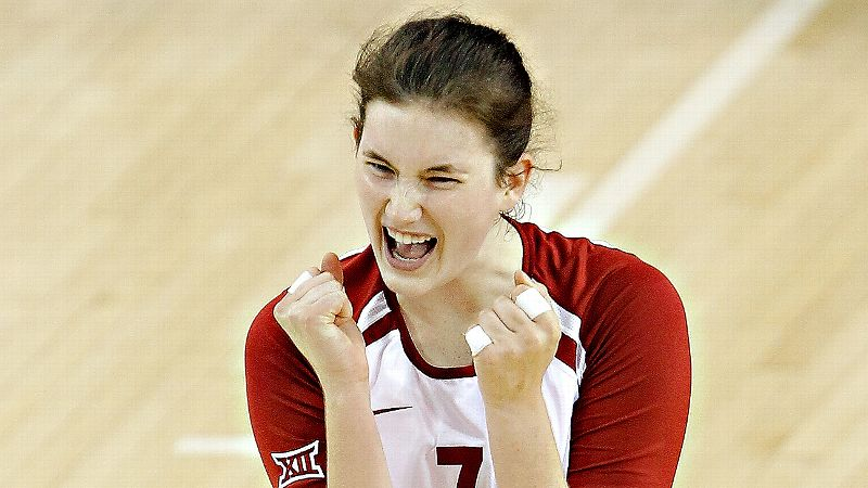 Kierra Holst, a 6-4 junior outside hitter, leads the Sooners with 264 kills.