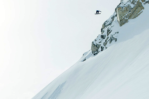 Fasani hits a legendary jump in the Whistler, British Columbia, backcountry.