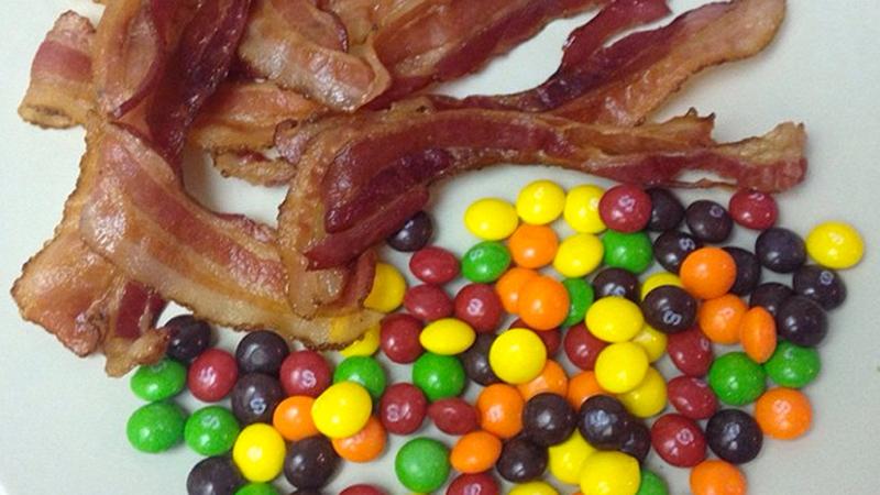 Bacon, Skittles
