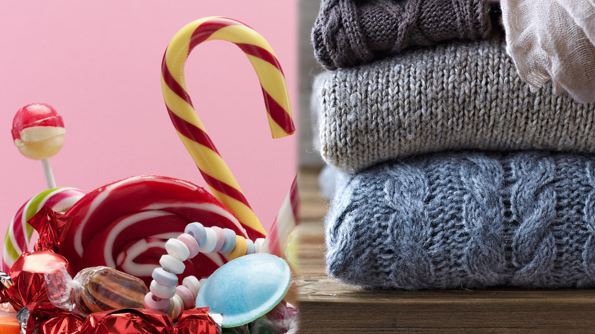 Kim: Candy and sweaters
