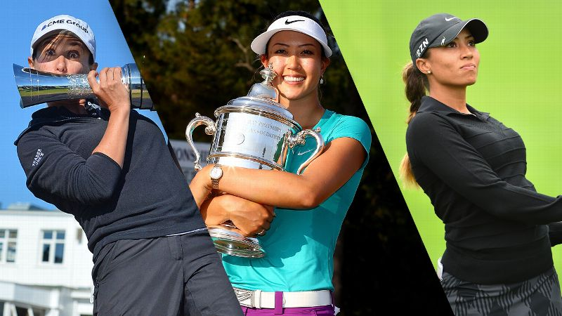 Mo Martin, Michelle Wie, and Cheyenne Woods