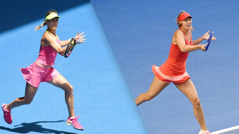 Eugenie Bouchard and Maria Sharapova