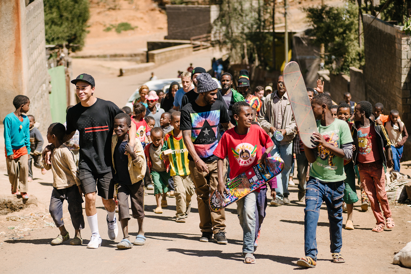Nyjah Huston in Addis Ababa