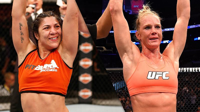Bethe Correia and Holly Holm