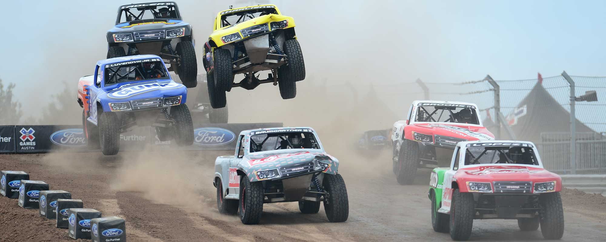 Off-road truck racing at X Games Austin 2014